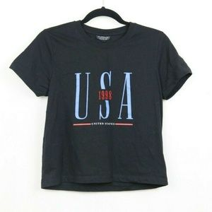 Topshop Embroidered 1998 USA T-Shirt
